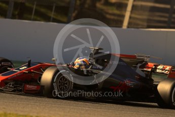 World © Octane Photographic Ltd. Formula 1 - Winter Test 1. Romain Grosjean - Haas F1 Team VF-17. Circuit de Barcelona-Catalunya. Wednesday 1st March 2017. Digital Ref :1782LB1D0887