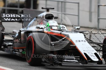 World © Octane Photographic Ltd. Formula 1 - Winter Test 1. Alfonso Celis - Sahara Force India VJM10. Circuit de Barcelona-Catalunya. Wednesday 1st March 2017. Digital Ref : 1782LB1D9718