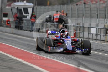 World © Octane Photographic Ltd. Formula 1 - Winter Test 1. Daniil Kvyat - Scuderia Toro Rosso STR12. Circuit de Barcelona-Catalunya. Wednesday 1st March 2017. Digital Ref : 1782LB1D9838