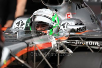 World © Octane Photographic Ltd. Formula 1 - Winter Test 1. Alfonso Celis - Sahara Force India VJM10. Circuit de Barcelona-Catalunya. Wednesday 1st March 2017. Digital Ref : 1782LB1D9959