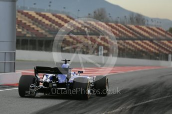 World © Octane Photographic Ltd. Formula 1 - Winter Test 1. Marcus Ericsson – Sauber F1 Team C36. Circuit de Barcelona-Catalunya. Wednesday 1st March 2017. Digital Ref : 1782LB5D8385