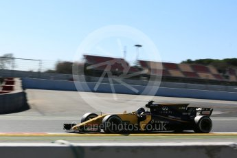 World © Octane Photographic Ltd. Formula 1 - Winter Test 1. Nico Hulkenberg - Renault Sport F1 Team R.S.17. Circuit de Barcelona-Catalunya. Wednesday 1st March 2017. Digital Ref :1782LB5D8646