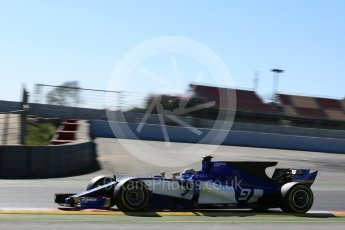 World © Octane Photographic Ltd. Formula 1 - Winter Test 1. Marcus Ericsson – Sauber F1 Team C36. Circuit de Barcelona-Catalunya. Wednesday 1st March 2017. Digital Ref :1782LB5D8655