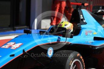 World © Octane Photographic Ltd. GP3 - Race 2. Arjun Maini – Jenzer Motorsport. Circuit de Barcelona - Catalunya, Spain. Sunday 14th May 2017. Digital Ref:1821LB1D2937