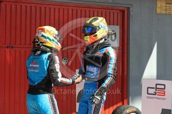 World © Octane Photographic Ltd. GP3 - Race 2. Arjun Maini and Allessio Lorando – Jenzer Motorsport. Circuit de Barcelona - Catalunya, Spain. Sunday 14th May 2017. Digital Ref:1821LB1D3035