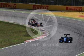 World © Octane Photographic Ltd. GP3 - Race 2. Allessio Lorando – Jenzer Motorsport and George Russell - ART Grand Prix. Circuit de Barcelona - Catalunya, Spain. Sunday 14th May 2017. Digital Ref:1821LB2D8697