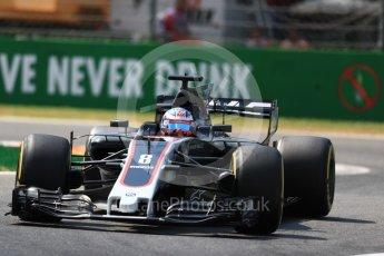 World © Octane Photographic Ltd. Formula 1 - Italian Grand Prix - Practice 2. Romain Grosjean - Haas F1 Team VF-17. Monza, Italy. Friday 1st September 2017. Digital Ref: 1939LB1D2154