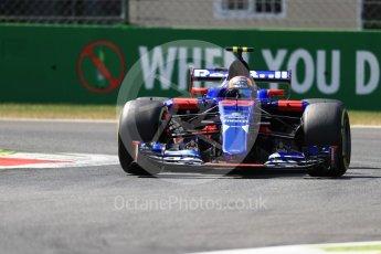 World © Octane Photographic Ltd. Formula 1 - Italian Grand Prix - Practice 2. Carlos Sainz - Scuderia Toro Rosso STR12. Monza, Italy. Friday 1st September 2017. Digital Ref: 1939LB1D2360