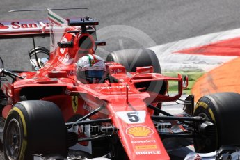 World © Octane Photographic Ltd. Formula 1 - Italian Grand Prix - Practice 2. Sebastian Vettel - Scuderia Ferrari SF70H. Monza, Italy. Friday 1st September 2017. Digital Ref: 1939LB1D2405
