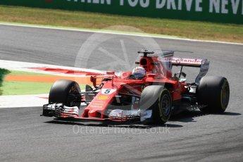 World © Octane Photographic Ltd. Formula 1 - Italian Grand Prix - Practice 2. Sebastian Vettel - Scuderia Ferrari SF70H. Monza, Italy. Friday 1st September 2017. Digital Ref: 1939LB1D2478