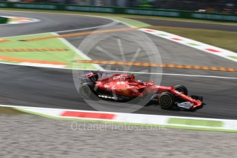World © Octane Photographic Ltd. Formula 1 - Italian Grand Prix - Practice 2. Kimi Raikkonen - Scuderia Ferrari SF70H. Monza, Italy. Friday 1st September 2017. Digital Ref: 1939LB2D8180