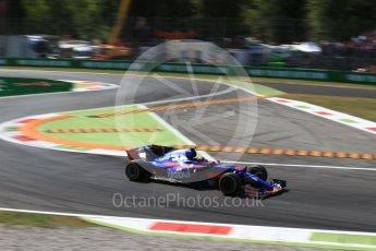 World © Octane Photographic Ltd. Formula 1 - Italian Grand Prix - Practice 2. Carlos Sainz - Scuderia Toro Rosso STR12. Monza, Italy. Friday 1st September 2017. Digital Ref: 1939LB2D8305