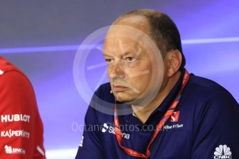 World © Octane Photographic Ltd. Formula 1 - Italian Grand Prix – Friday Team Press Conference – Part 1. Frederic Vasseur – Team Principal and CEO of Sauber Motorsport AG. Monza, Italy. Friday 1st September 2017. Digital Ref: 1940LB1D2876