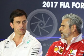 World © Octane Photographic Ltd. Formula 1 - Italian Grand Prix – Friday Team Press Conference – Part 1. Maurizio Arrivabene – Managing Director and Team Principal of Scuderia Ferrari. Monza, Italy. Friday 1st September 2017. Digital Ref: 1940LB1D2913