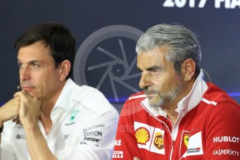 World © Octane Photographic Ltd. Formula 1 - Italian Grand Prix – Friday Team Press Conference – Part 1. Maurizio Arrivabene – Managing Director and Team Principal of Scuderia Ferrari. Monza, Italy. Friday 1st September 2017. Digital Ref: 1940LB1D2919