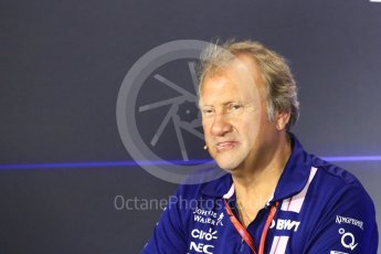 World © Octane Photographic Ltd. Formula 1 - Italian Grand Prix – Friday Team Press Conference – Part 2. Robert Fernley - Deputy Team Principal of Sahara Force India. Monza, Italy. Friday 1st September 2017. Digital Ref: 1940LB1D2962