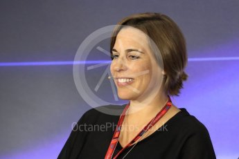 World © Octane Photographic Ltd. Formula 1 - Italian Grand Prix – Friday Team Press Conference – Part 2. Claire Williams - Deputy Team Principal of Williams Martini Racing. Monza, Italy. Friday 1st September 2017. Digital Ref: 1940LB1D2981
