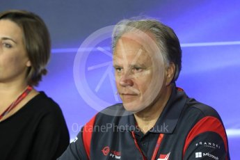 World © Octane Photographic Ltd. Formula 1 - Italian Grand Prix – Friday Team Press Conference – Part 2. Gene Haas - Founder and Chairman of Haas F1 Team. Monza, Italy. Friday 1st September 2017. Digital Ref: 1940LB1D2984