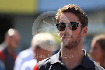 World © Octane Photographic Ltd. Formula 1 - Japanese Grand Prix - Sunday - Drivers' Parade. Romain Grosjean - Haas F1 Team VF-17. Suzuka Circuit, Suzuka, Japan. Sunday 8th October 2017. Digital Ref:1979LB1D0058
