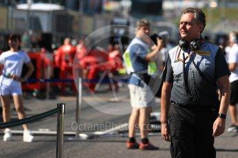 World © Octane Photographic Ltd. Formula 1 - Japanese Grand Prix - Grid. Mario Isola – Pirelli Head of Car Racing. Suzuka Circuit, Suzuka, Japan. Sunday 8th October 2017. Digital Ref:1979LB1D0215