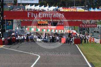 World © Octane Photographic Ltd. Formula 1 - Japanese Grand Prix - Sunday - Grid. Suzuka Circuit, Suzuka, Japan. Sunday 8th October 2017. Digital Ref:1979LB1D0292