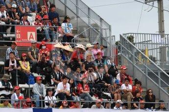 World © Octane Photographic Ltd. Formula 1 - Japanese Grand Prix - Saturday - Qualifying. Fans in the grandstand. Suzuka Circuit, Suzuka, Japan. Saturday 7th October 2017. Digital Ref:1977LB1D9471
