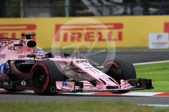 World © Octane Photographic Ltd. Formula 1 - Japanese Grand Prix - Saturday - Qualifying. Sergio Perez - Sahara Force India VJM10. Suzuka Circuit, Suzuka, Japan. Saturday 7th October 2017. Digital Ref:1977LB1D9698