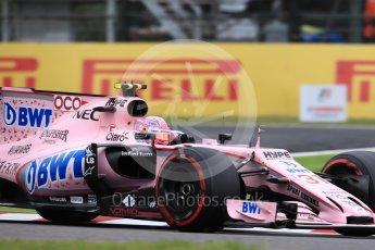 World © Octane Photographic Ltd. Formula 1 - Japanese Grand Prix - Saturday - Qualifying. Esteban Ocon - Sahara Force India VJM10. Suzuka Circuit, Suzuka, Japan. Saturday 7th October 2017. Digital Ref:1977LB1D9750