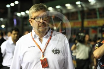 World © Octane Photographic Ltd. Formula 1 - Singapore Grand Prix - Paddock. Ross Brawn – Managing Director of Formula 1 for Liberty Media. Marina Bay Street Circuit, Singapore. Sunday 17th September 2017. Digital Ref: