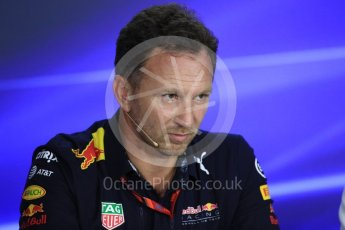 World © Octane Photographic Ltd. Formula 1 - Singapore Grand Prix – Friday Team Press Conference – Part 2. Christian Horner - Team Principal of Red Bull Racing.. Marina Bay Street Circuit, Singapore. Saturday 2nd September 2017. Digital Ref:1960LB1D0644