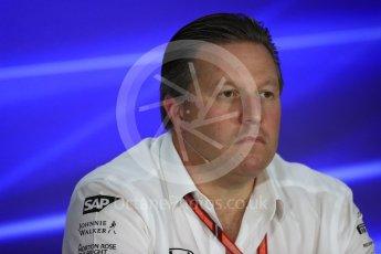 World © Octane Photographic Ltd. Formula 1 - Singapore Grand Prix – Friday Team Press Conference – Part 2. Zak Brown - Executive Director of McLaren Technology Group. Marina Bay Street Circuit, Singapore. Saturday 2nd September 2017. Digital Ref:1960LB1D0703