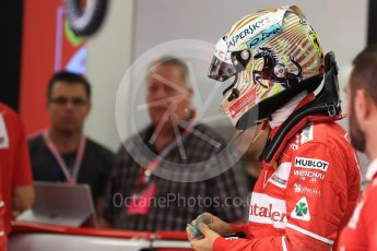 World © Octane Photographic Ltd. Formula 1 - Singapore Grand Prix - Practice 3. Sebastian Vettel - Scuderia Ferrari SF70H. Marina Bay Street Circuit, Singapore. Saturday 16th September 2017. Digital Ref:1962LB1D1205