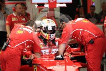 World © Octane Photographic Ltd. Formula 1 - Singapore Grand Prix - Practice 3. Sebastian Vettel - Scuderia Ferrari SF70H. Marina Bay Street Circuit, Singapore. Saturday 16th September 2017. Digital Ref:1962LB1D1238