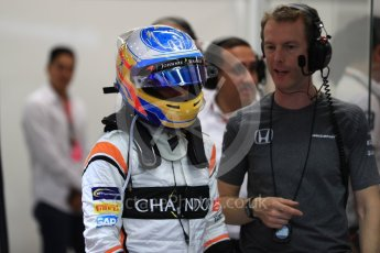 World © Octane Photographic Ltd. Formula 1 - Singapore Grand Prix - Practice 3. Fernando Alonso - McLaren Honda MCL32. Marina Bay Street Circuit, Singapore. Saturday 16th September 2017. Digital Ref:1962LB1D1660