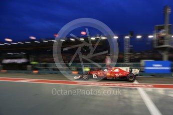World © Octane Photographic Ltd. Formula 1 - Singapore Grand Prix - Practice 3. Sebastian Vettel - Scuderia Ferrari SF70H. Marina Bay Street Circuit, Singapore. Saturday 16th September 2017. Digital Ref:1962LB2D1959