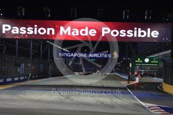 World © Octane Photographic Ltd. Formula 1 - Singapore Grand Prix - Race. Ready for race start. Marina Bay Street Circuit, Singapore. Sunday 17th September 2017. Digital Ref: