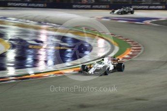 World © Octane Photographic Ltd. Formula 1 - Singapore Grand Prix - Race. Felipe Massa - Williams Martini Racing FW40. Marina Bay Street Circuit, Singapore. Sunday 17th September 2017. Digital Ref: