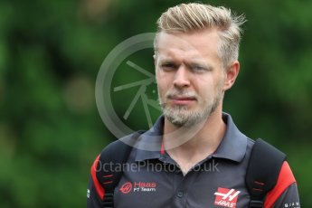World © Octane Photographic Ltd. Formula 1 - Singapore Grand Prix - Paddock. Kevin Magnussen - Haas F1 Team VF-17. Marina Bay Street Circuit, Singapore. Saturday 16th September 2017. Digital Ref:1961LB1D1036