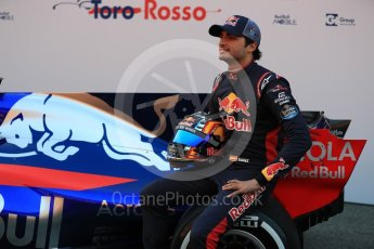World © Octane Photographic Ltd. Scuderia Toro Rosso STR12 launch, Circuit de Barcelona-Catalunya. Sunday 26th February 2017. Digital Ref :1777LB1D7836