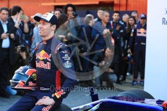 World © Octane Photographic Ltd. Scuderia Toro Rosso STR12 launch, Circuit de Barcelona-Catalunya. Sunday 26th February 2017. Digital Ref :1777LB1D7854
