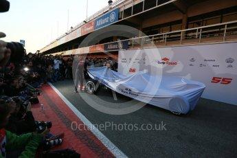 World © Octane Photographic Ltd. Scuderia Toro Rosso STR12 launch, Circuit de Barcelona-Catalunya. Sunday 26th February 2017. Digital Ref :1777LB5D7422