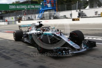 World © Octane Photographic Ltd. Formula 1 – Italian GP -Practice 3. Mercedes AMG Petronas Motorsport AMG F1 W09 EQ Power+ - Lewis Hamilton. Autodromo Nazionale di Monza, Monza, Italy. Saturday 1st September 2018.