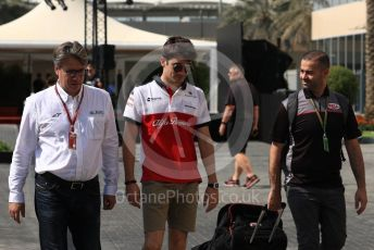 World © Octane Photographic Ltd. Formula 1 –  Abu Dhabi GP - Paddock. Alfa Romeo Sauber F1 Team C37 – Marcus Ericsson. Yas Marina Circuit, Abu Dhabi. Saturday 24th November 2018.