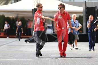 World © Octane Photographic Ltd. Formula 1 –  Abu Dhabi GP - Paddock. Scuderia Ferrari SF71-H – Sebastian Vettel. Yas Marina Circuit, Abu Dhabi. Saturday 24th November 2018.