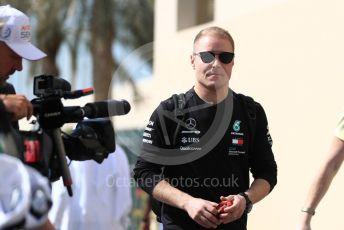 World © Octane Photographic Ltd. Formula 1 –  Abu Dhabi GP - Paddock. Mercedes AMG Petronas Motorsport AMG F1 W09 EQ Power+ - Valtteri Bottas. Yas Marina Circuit, Abu Dhabi. Saturday 24th November 2018.