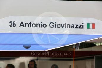 World © Octane Photographic Ltd. Formula 1 – Abu Dhabi GP - Practice 1. Alfa Romeo Sauber F1 Team C37 – Antonio Giovinazzi. Yas Marina Circuit, Abu Dhabi. Friday 23rd November 2018.