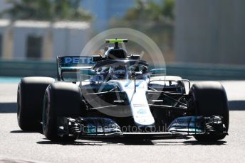 World © Octane Photographic Ltd. Formula 1 –  Abu Dhabi GP - Practice 1. Mercedes AMG Petronas Motorsport AMG F1 W09 EQ Power+ - Valtteri Bottas. Yas Marina Circuit, Abu Dhabi. Friday 23rd November 2018.