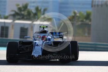 World © Octane Photographic Ltd. Formula 1 –  Abu Dhabi GP - Practice 1. Williams Martini Racing FW41 – Robert Kubica. Yas Marina Circuit, Abu Dhabi. Friday 23rd November 2018.