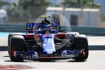 World © Octane Photographic Ltd. Formula 1 –  Abu Dhabi GP - Practice 1. Scuderia Toro Rosso STR13 – Pierre Gasly. Yas Marina Circuit, Abu Dhabi. Friday 23rd November 2018.