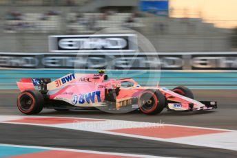 World © Octane Photographic Ltd. Formula 1 –  Abu Dhabi GP - Practice 2. Racing Point Force India VJM11 - Esteban Ocon. Yas Marina Circuit, Abu Dhabi. Friday 23rd November 2018.